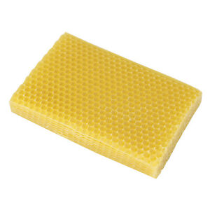 10 Stück Imkerei Bienenwachs Nest Bett Bienenwachsblätter Honeycomb Foundation