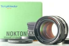 [Mint in Box] Voigtlander Nokton 50mm f/1.5 Black ASPHERICAL Lens Japan 660