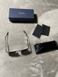 New Christian DIOR Homme DIOR180 84JIR Silver Grey Lens Men Sunglasses Authentic