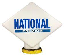 HAILWARE -NATIONAL PREMIUM- VINTAGE BENZOLE OPALINE GLASS PETROL PUMP GLOBE SIGN