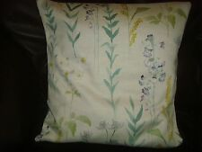 JOHN LEWIS  'LONGSTOCK'  Spring Flower LINEN FABRIC CUSHION COVER FOR 16in pad