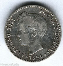 Alfonso XIII 50 Centimos 1896 Tupe @ Muy bella @