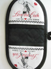 """Love the Cook"", Cape May, Stone Harbor microwave potholder - NEW, handcrafted"