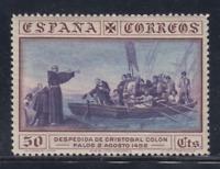 ESPAÑA (1930) NUEVO CON FIJASELLOS MLH - EDIFIL 542 (50 cts) AMERICA - LOTE 1