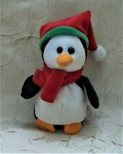 "Ty ""Sleddy"" Penguin Jingle Beanies Miniature Plush Toy"