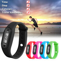 Sports Smart Band Watch Bracelet Wristband Calorie Fitness Tracker LCD Pedometer