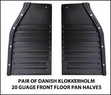 VW BEETLE FLOOR PANS 20 GUAGE DANISH 1952-1972 PAIR OF FRONTS