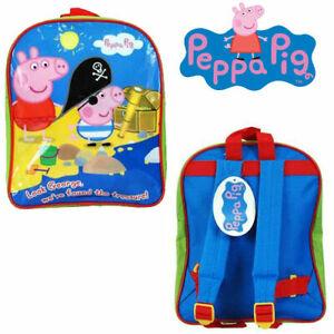 Kids Children Official Peppa Pig Backpack George Treasure Junior Beach Sports