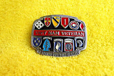VINTAGE 1980'S VIETNAM VETERANS BELT BUCKLE! USA #2326 SERVED OUR TIME IN HELL!