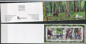 2014 Belarus. Wild animals. Naliboki Pushcha. Booklet