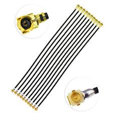 "10pcs IPX U.FL Plug Male panle receptacle RA to IPEX U.FL Female Cable 4"" 1.13mm"
