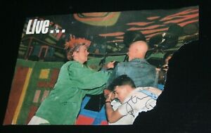 Johnny Rotten signed Edinburgh stage fight 1987 punk