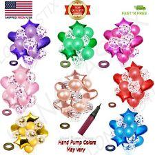 Birthday Wedding Baby shower Party Star Heart Foil Confetti Latex Balloons set✨