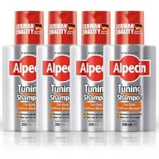 4 x Alpecin Tuning Shampoo - Maintain Dark Hair - Thicker & Stronger Hair 200ml