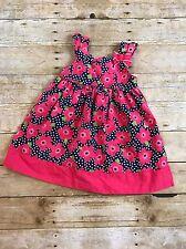 Gymboree Blooming Nautical Toddler Girls Floral Dress Pink Navy Size 3T Easter