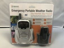 OREGON SCIENTIFIC WR601 EMERGENCY PORTABLE WEATHER RADIO NOAA SILVER BRAND NEW