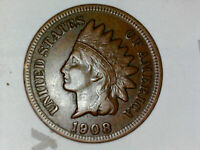 1908 Indian Head Cent Penny  -- full liberty, MAKE US AN OFFER!  free shipping