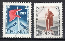 Poland - 1957 40 years October revolution - Mi. 1031-32 VFU
