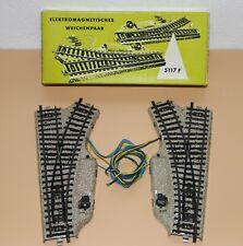 Märklin 5117 ( 5118/5119 ) Elektrisches Weichenpaar M-Gleis HO OVP