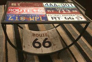 Route 66 Metal Retro Freestanding Table,62,5cm x 32.5cm x47,5cm