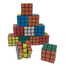 12pk - Mini Rubix Cube 3x3 Magic Rubic Puzzle Game Twist Toy Party Favors