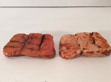 2 Grilled Salmon Steaks Fake Food Prop, Theater, Photographic Realistic