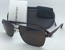 New EMPORIO ARMANI Sunglasses EA 2019 3049/73 58-16 Matte Brown w/ Brown lenses