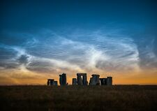 Noctilucent Clouds at Stonehenge A3 Print 16.5 x 11.7 inches