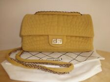 Chanel Jersey Croc Reissue double Flap Bag w mirror Excellent Condition