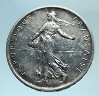 1960 FRANCE French LARGE with La Semeuse SOWER WOMAN Silver 5 Francs Coin i78323