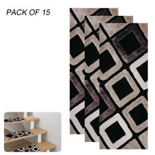 15Pcs Stair Treads Carpet Rug Skid-Resistant Non-Slip Indoor Stair Mat Cover Set