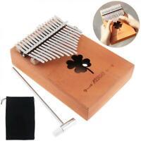 17 Key Kalimba Single Board Mahogany Thumb Piano Mbira Mini Keyboard Gift