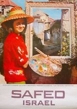 ISRAEL SAFED EL AL GALILEA Vintage 1967 Travel Tourism poster 20x27 Not a repro