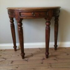 half moon console table. Wood Half Moon Console Table L