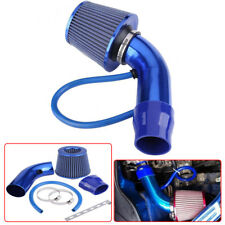 "Blue Air Intake Kit Pipe Diameter 3"" Cold Air Intake Filter+ Clamp+ Accessories"