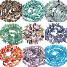 50Pcs Semi Precious Natural Irregular Stone Chip Drilled Beads Jewelry Making