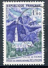 TIMBRE FRANCE OBLITERE N° 1241 MASSIF DU GRAND BENARD ET EGLISE DE CILAOS
