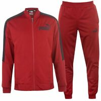 Puma Mens Poly Tracksuit 2 Pieces Jacket & Pants Sports Breathable Lightweight