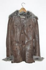 *STUNNING* Karen Millen Ladies Leather Coat with Sheepskin detail UK10 US6 EU38