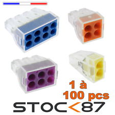 1 à 100pcs connecteur rapide marque HORD ou WAGO 2, 4 , 6 ou 8 plots