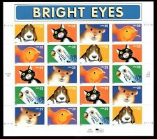 US, #3230-3234  Bright Eyes  Perfect Sheet  Mint Never Hinged -  Pl B33333