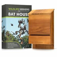 Wildlife Seekers Usa - Premium Cedar Wood Bat House - Durable Double Chamber .