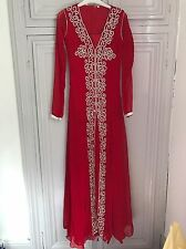 Red And Silver Embellished Gown/dress