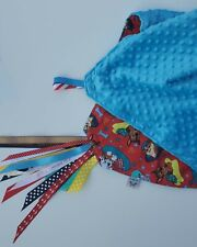 New listing Kids Lovey Paw Patrol team Print Minky Security Blanket for Babies and toddlers