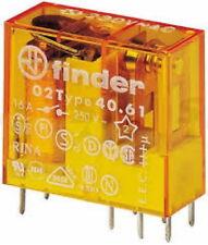 MINI RELE' 1 SCAMBIO 16A CON BOBINA 12V AC FINDER 40.61.8.012.0000