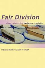 Fair Division: From Cake-Cutting to Dispute Resolution (Paperback or Softback)