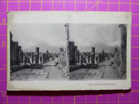 Antique Stereoscope Photograph of Pompeii Excavations, Italy 1800s Stereoview