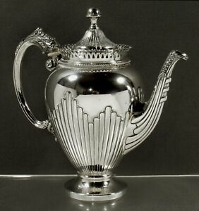 Italian Silver Coffee Pot                   c1950 PAMPALONI