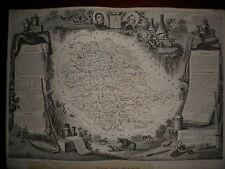 CARTE GEOGRAPHIQUE PUBLIE PAR COMBETTE 1845 / DEPARTEMENT DU TARN