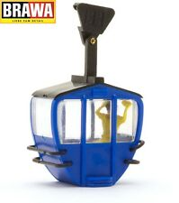 Brawa H0 6282 Cable Car Cabin Single Blue with Figure - NEW+Original Package